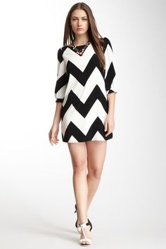 Pink Owl Chevron Stripe Dress by Graduation Dresses on @HauteLook