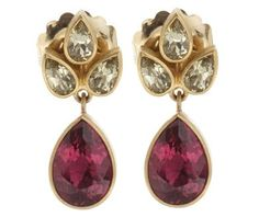 Mallary Marks Stone Leaf Earrings; $4485 at Barneys
