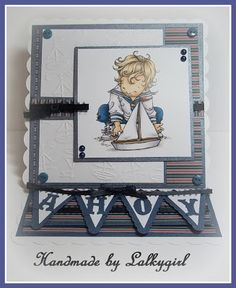 a card made using a mo manning image and various elements from my stash