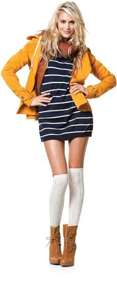 want to pull this off when i get this skinny!!! love knee high socks.