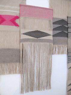 Handwoven wall hanging/ Tapestry/ Weaving/ Fiber art/ Cotton & linen