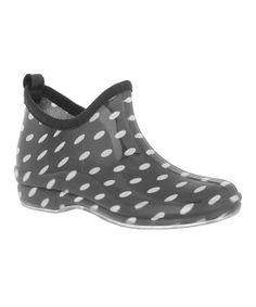 776666e6cb416d Capelli New York Black Polka Dot Jelly Ankle Rain Boot
