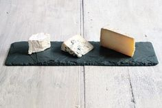This cheese board from Brooklyn Slate Co. is made of slate sourced from a family owned rock quarry in upstate New York.