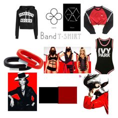 """""""Black. White and RED"""" by lim-qiqi on Polyvore featuring Ivy Park and adidas"""
