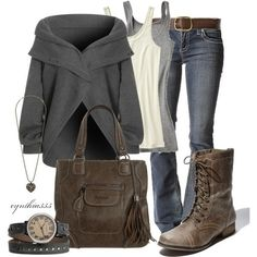 Love this entire look.  I've been looking for a watch like that. THe boots and bag are awesome too!