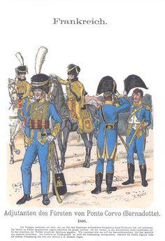 Band XIV #24.- Frankreich. Adjutanten des Fürsten von Ponte Corvo (Bernadotte). 1808.