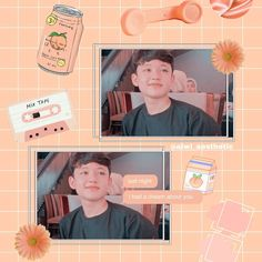 Peach Background, Wallpaper Aesthetic, Peach Aesthetic, We Bare Bears, I Have A Dream, Peach Colors, My Idol, Iphone Wallpaper, Hani