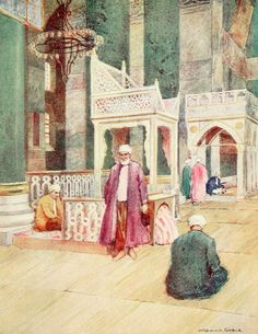 """'Interior of S. Sophia' from """"Constantinople painted by Warwick Goble"""" (1906)"""