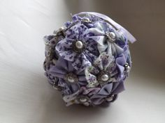 Pretty Fabric Pomanders - for flower girls or decoration.