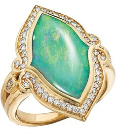 Opal and diamond ring by Kabana via cijintl