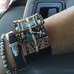 Gave this Calico Cuff to @tsprine  mom Sue ... Looked great on her