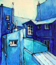 Paris Portal in blue by Tubi Du on Etsy