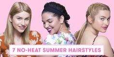 7 No-Heat Hairstyles Every Lazy Girl Needs To Try #hairstyles #noheat #easyhairdo #frizzyhair Heatless Waves Overnight, Curly Hair Overnight, Overnight Braids, Heatless Curls, No Heat Waves, Curls No Heat, No Heat Hairstyles, Summer Hairstyles, Girl Hairstyles