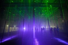 Meet Marshmallow Laser Feast And Their Interactive Musical Laser Forest | The Creators Project