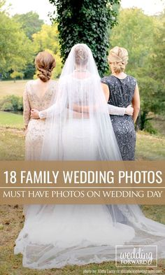 18 Must Have Family Wedding Photos. Devote a special time for family wedding photos, for example immediately after ceremony. Get some ideas for wonderful family photos. ❤ See more: http://www.weddingforward.com/family-wedding-photos/ #wedding #photos