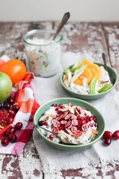 Apple Almond Bircher Meusli with Winter Fruits | Simple Bites