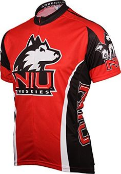 NCAA Northern Illinois Huskies Cycling Jersey Large Red -- More info could be found at the image url.Note:It is affiliate link to Amazon.