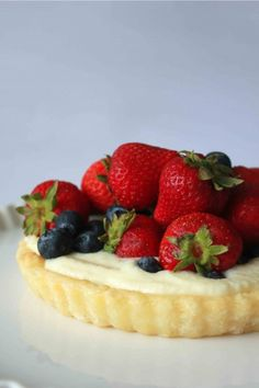 Fresh Berry Tart with Vanilla Pastry Cream - The pastry cream part turned out good! In fact, it was super easy to make! I just followed the recipe exactly. The pastry was also easy to work with and tasty! Overall, a delicious fruit tart!