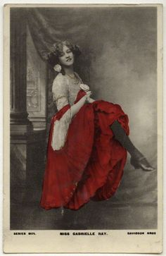 cancan    Miss Gabrielle Ray, late 1900s  National Portrait Gallery, London
