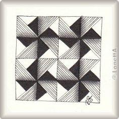 Zentangle-Pattern 'Amalea' by Chrissie Frampton, presented by www.ElaToRium.de