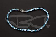 14* cordone intreccio azzurro con fila conteria