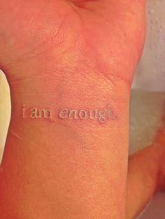 i am enough tattoo - Google Search