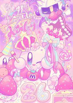 Sanrio Wallpaper, Kawaii Wallpaper, Kawaii Drawings, Cute Drawings, Kawaii Art, Kawaii Anime, Kirby Nintendo, Kirby Character, Meta Knight
