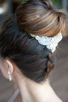 cool updo with a braid- perfect wedding hairstyles