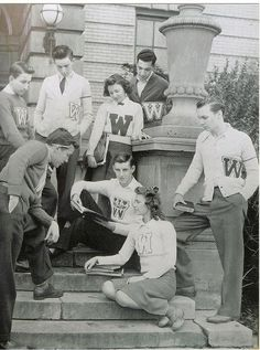 Letterman sweaters were first introduced in 1865 by the Harvard University baseball team. Letters are awarded to high school or college athletes after an accomplishment or other occasion. The letter was commonly large in size and placed in the center of the sweater. The number of stripes on the sleeve signified how many letters the person wearing it had won.