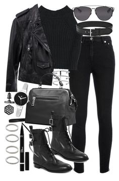 """""""Untitled #18915"""" by florencia95 ❤ liked on Polyvore featuring Yves Saint Laurent, Linea Pelle, Marc by Marc Jacobs, Christian Dior, Forever 21, Christian Van Sant and Simply Vera"""