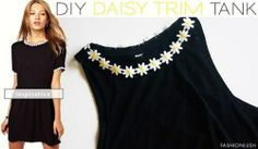DIY | DAISY TRIM TANK