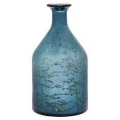 Crafted+of+blue+mercury+glass,+this+artful+bottle+is+perfect+on+its+own+or+showcasing+lovely+faux+blooms.+  Product:+Bottle