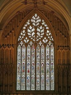 Great West Window, York Minster - 1338 - largest stained glass window in the world  .