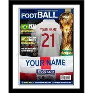 England Magazine Cover Personalised Football, Gifts For Football Fans, England, Magazine, Cover, Custom Football, England Uk, English, Blanket