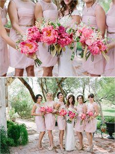 Wedding Colors: Most Popular Trends - Wedding Party.Pink and white, blush and white Wedding Trends, Trendy Wedding, Wedding Styles, Dream Wedding, Wedding Ideas, Fall Wedding, Rustic Wedding, Wedding Photos, Pink Bridesmaid Dresses