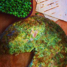 Green eggs and ham frittata recipe. Gluten free dairy free