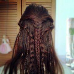 Celtic Elven hair.