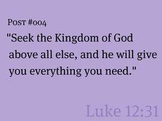 #004 Luke 12:31