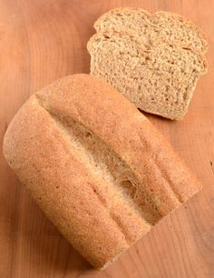 Fluffy Whole Wheat Bread - Food Doodles Flax Seed Recipes, Flour Recipes, Bread Recipes, Real Food Recipes, Cooking Bread, Bread Food, Bread Baking, 100 Whole Wheat Bread, Wheat Bread Recipe
