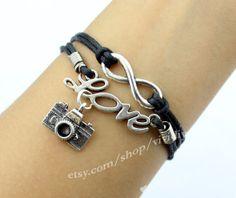 The infinite charm love charm bracelet photographers by vividiy, $3.99