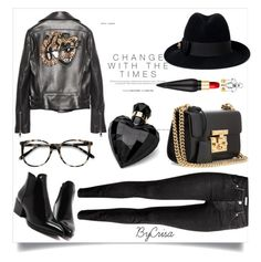 """""""Untitled #791"""" by crisa-gloria-eduardo ❤ liked on Polyvore featuring Gucci, H&M, Ace, Lipsy and Christian Louboutin"""