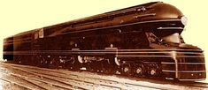 #Streamlined Locomotive, #RaymondLoewy  #locomotive #photo #train #railway #old #history #motor #engine #curves #black #USA