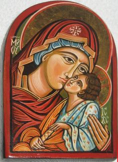 Byzantine Icons | Mother of God with Child Byzantine icon by ByzantineArt on Etsy