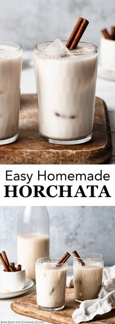 Mexican Drinks, Mexican Dishes, Mexican Food Recipes, Dessert Recipes, Mexican Brunch, Coctails Recipes, Mexican Cooking, Horchata Drink, Drink Recipes