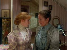 Anne and Marilla having a chat in Anne of Green Gables.