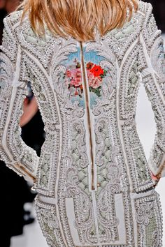 This embroidered #balmain is a work of art.