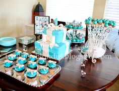 Very cute breakfast at Tiffany's party.  tutus, bows and glasses for the little guests to wear.