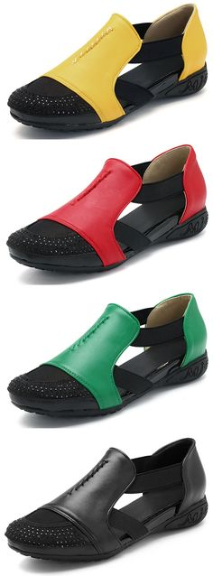 49% OFF! US$36.31 Beaded Breathable Elastic Soft Sole Sandals.SHOP NOW!