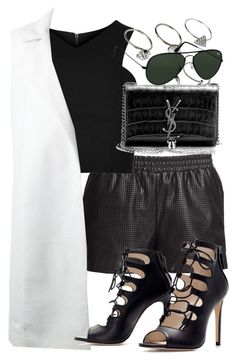 """Untitled #3184"" by wallenbergnikki ❤ liked on Polyvore featuring BCBGMAXAZRIA, Topshop, Charlie May, Zara, ASOS, Yves Saint Laurent, Ray-Ban, women's clothing, women's fashion and women"