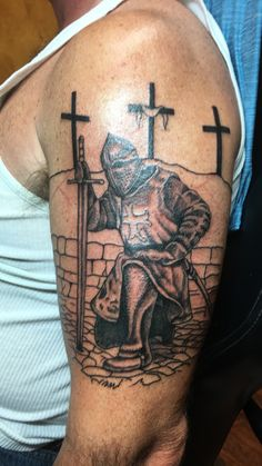 Tattoos are an integral part of society, with many people sporting one or more tattoos on their body, it is certain that these tattoos can be significant for many people and cultures from around th… Eagle Tattoos, Skull Tattoos, Leg Tattoos, Body Art Tattoos, Sleeve Tattoos, Templar Knight Tattoo, Armor Of God Tattoo, Historical Tattoos, Templer